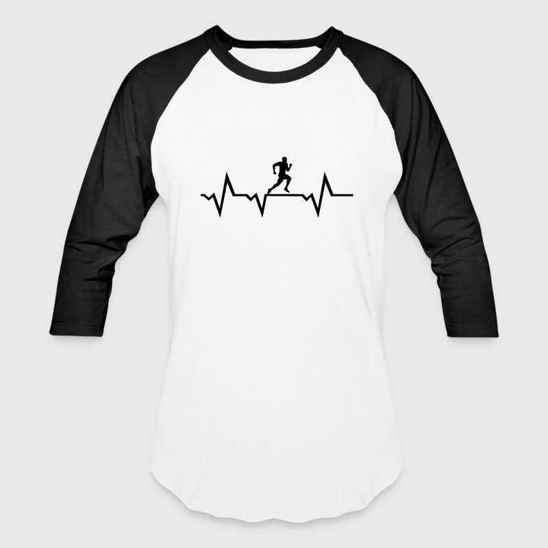 Running Man & Heartbeat T-Shirts - Baseball T-Shirt