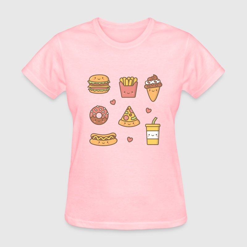 kawaii junk food for her t shirt spreadshirt. Black Bedroom Furniture Sets. Home Design Ideas