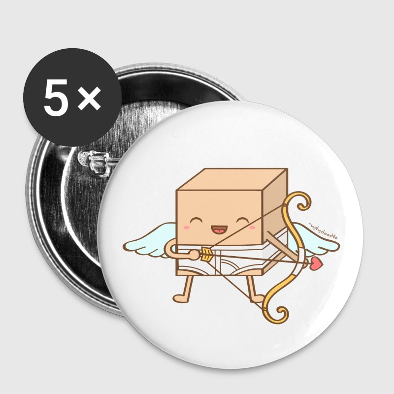 Cute Cubic Cupid Pun Buttons - Small Buttons