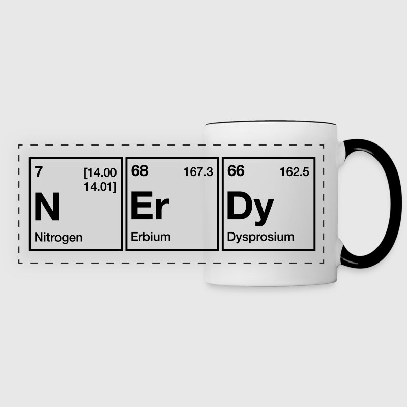 NErDy Periodic Table Word Mugs & Drinkware - Panoramic Mug