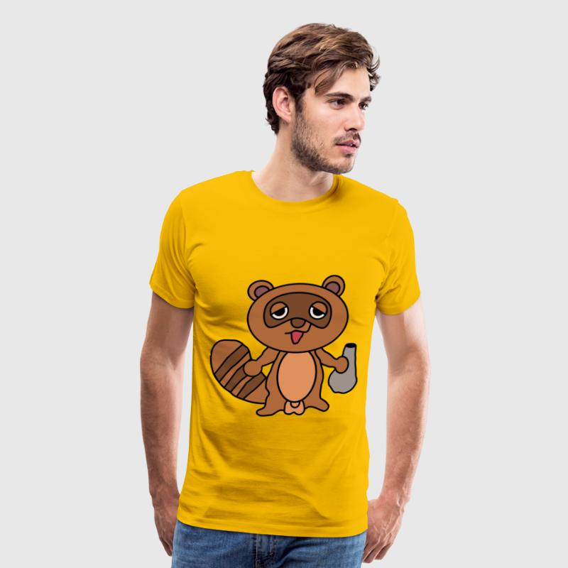 Tanuki Cartoon - Men's Premium T-Shirt