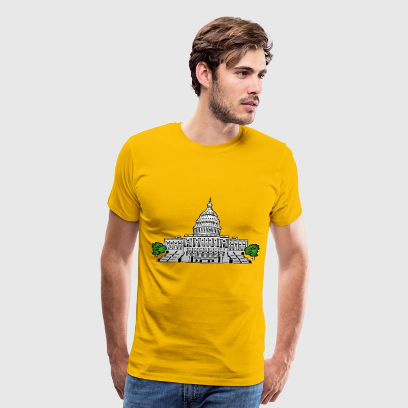 Us Capitol Building - Men's Premium T-Shirt