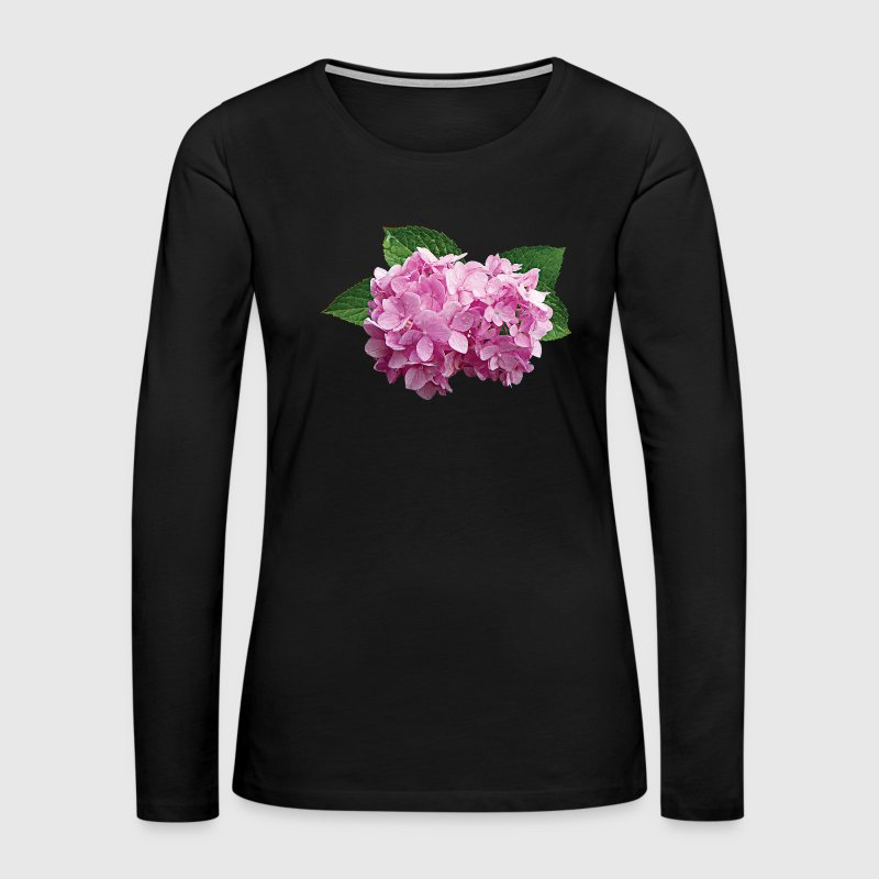 Pale Pink Hydrangea Long Sleeve Shirts - Women's Premium Long Sleeve T-Shirt