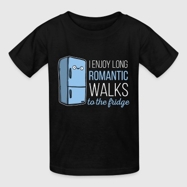 Fridge -I enjoy long romantic walks. To the fridge - Kids' T-Shirt