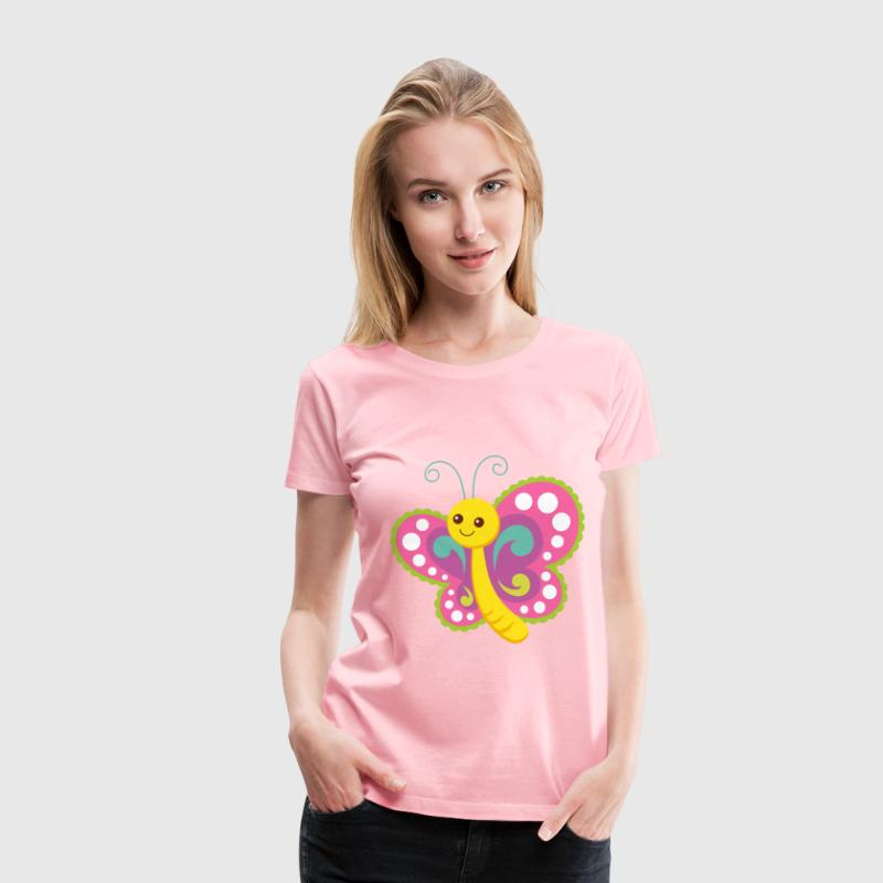 Cute Cartoon Butterfly - Women's Premium T-Shirt