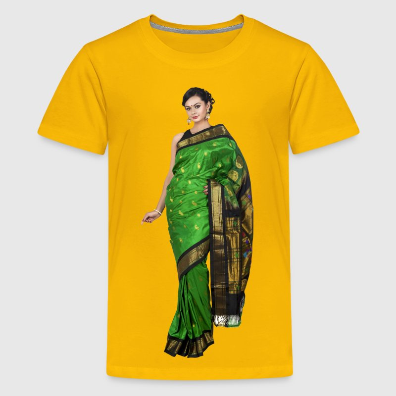 Woman in saree - Kids' Premium T-Shirt