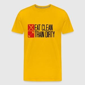 Clean hook eat checkmark cool text logo design tra T-Shirt ...
