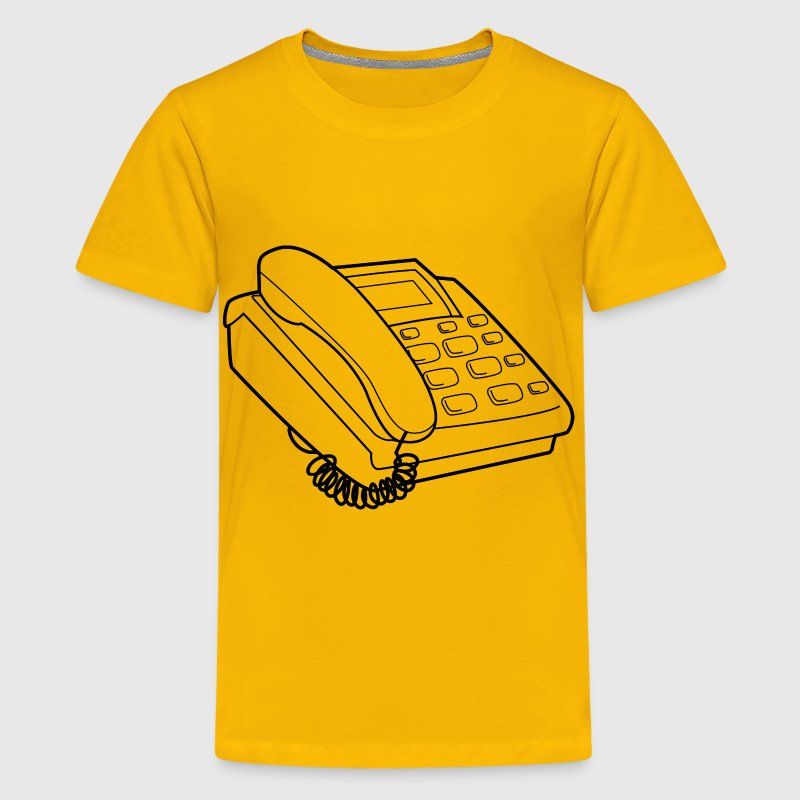 Telephone svg image for Videoscribe - Kids' Premium T-Shirt