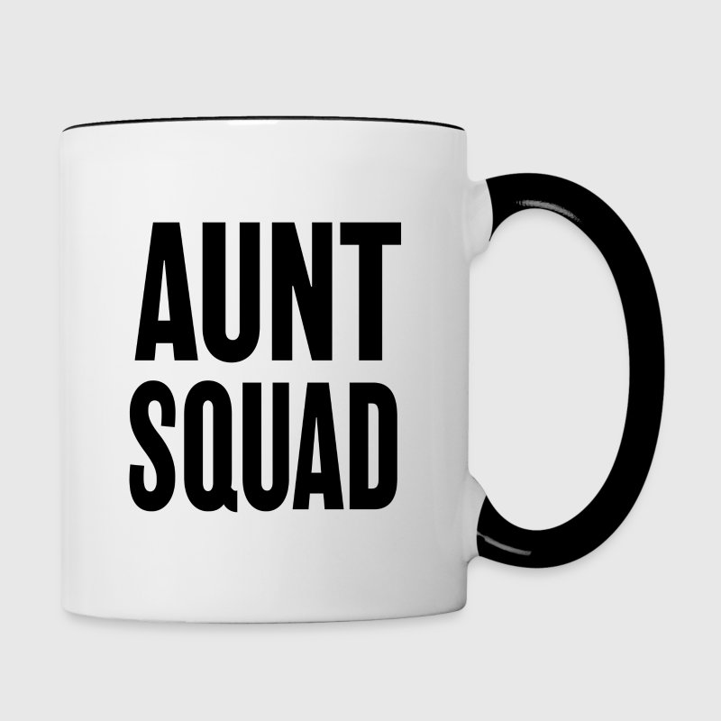 Aunt Squad funny women's coffee mug - Contrast Coffee Mug