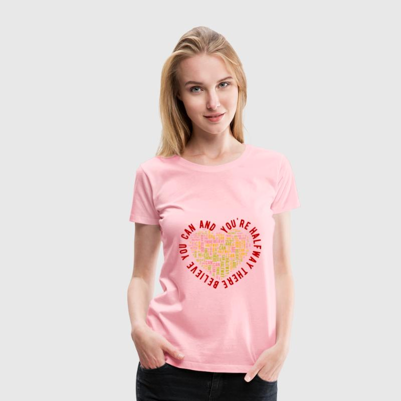 Text On Path using inkXE - Women's Premium T-Shirt
