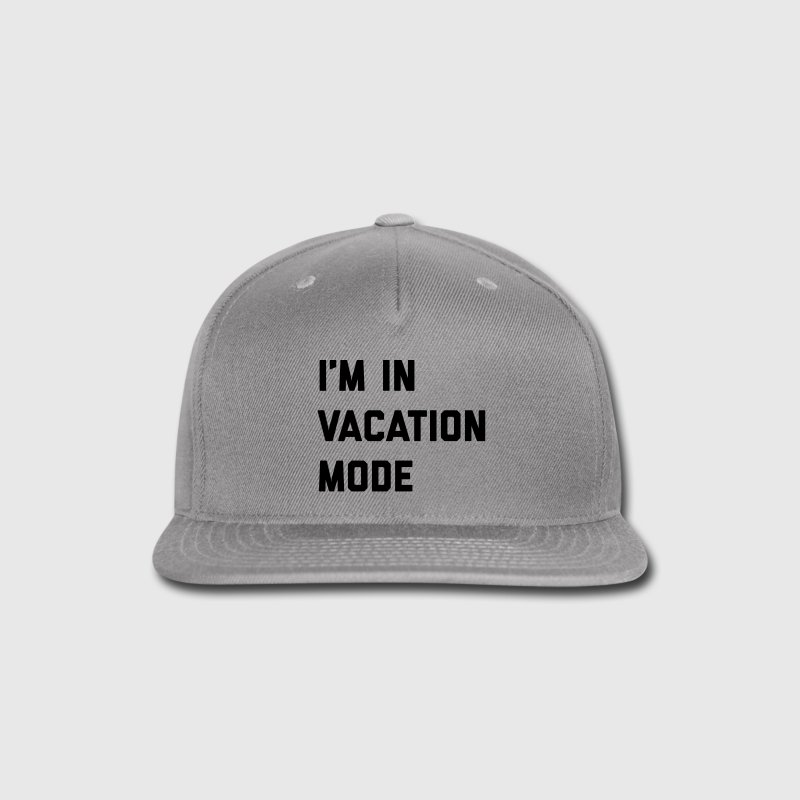 Vacation Mode Funny Quote Sportswear - Snap-back Baseball Cap