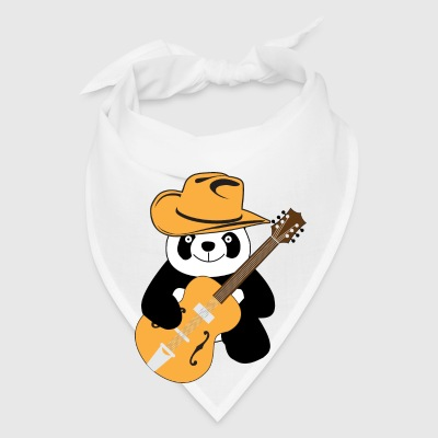 Funny panda with guitar Accessories - Bandana