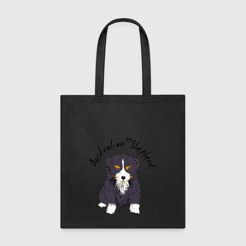 black tri Australian Shepherd Puppy Bags & backpacks - Tote Bag