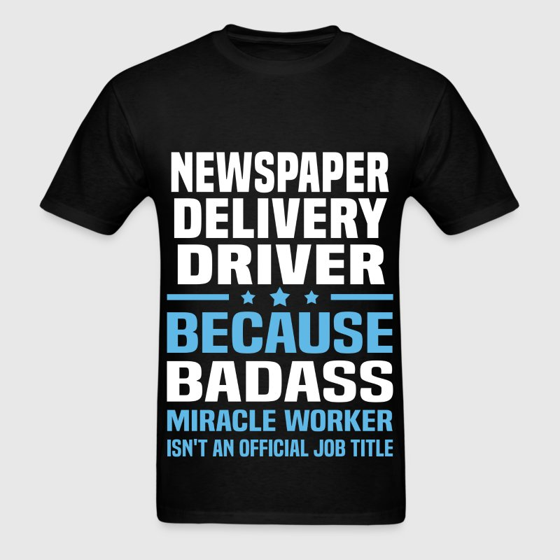 Newspaper Delivery Driver Tshirt - Men's T-Shirt