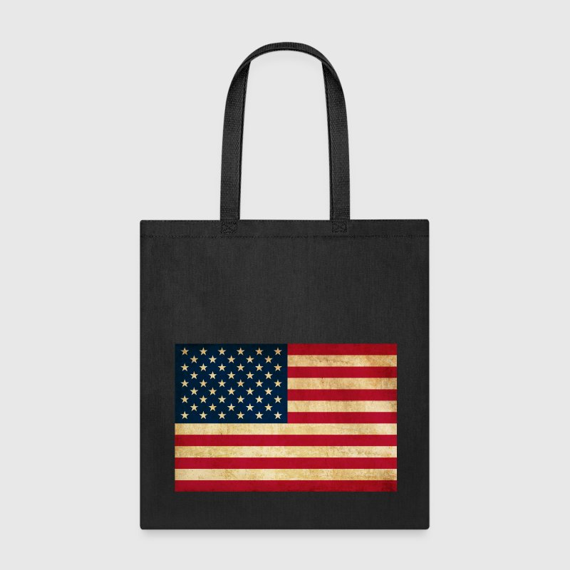 Grunge Vintage Patriotic American Flag Bags & backpacks - Tote Bag