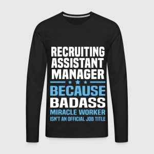 mens premium long sleeve t shirt - Recruiting Assistant