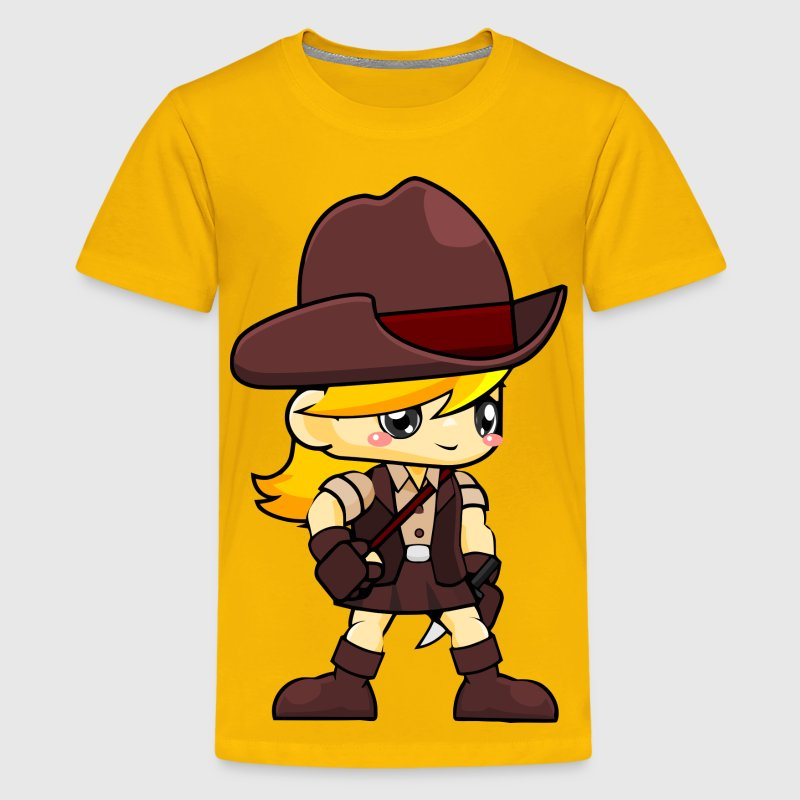 Adventurer Girl - Kids' Premium T-Shirt