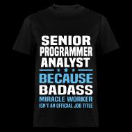 Senior Programmer Analyst Tshirt   Menu0027s T Shirt