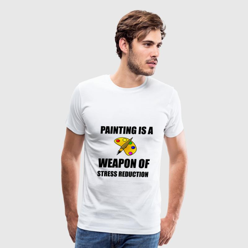 Weapon of Stress Reduction Painting - Men's Premium T-Shirt