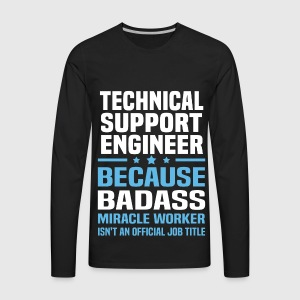 Technical support engineer t shirt spreadshirt mens premium long sleeve t shirt sciox Image collections