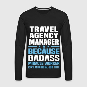 mens premium long sleeve t shirt - Agency Manager