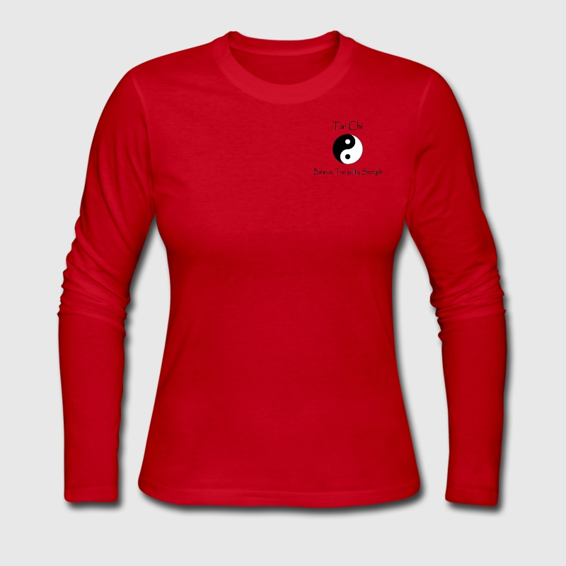 Women's Tai Chi - Balance, Tranquility, Strength - Women's Long Sleeve Jersey T-Shirt