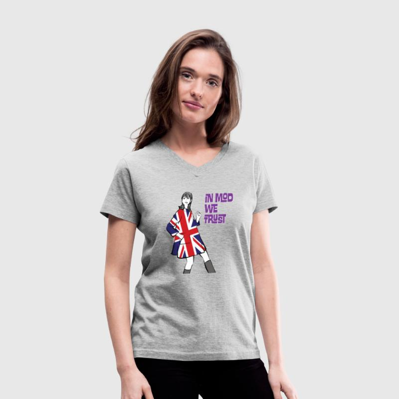 In Mod We Trust T-Shirts - Women's V-Neck T-Shirt