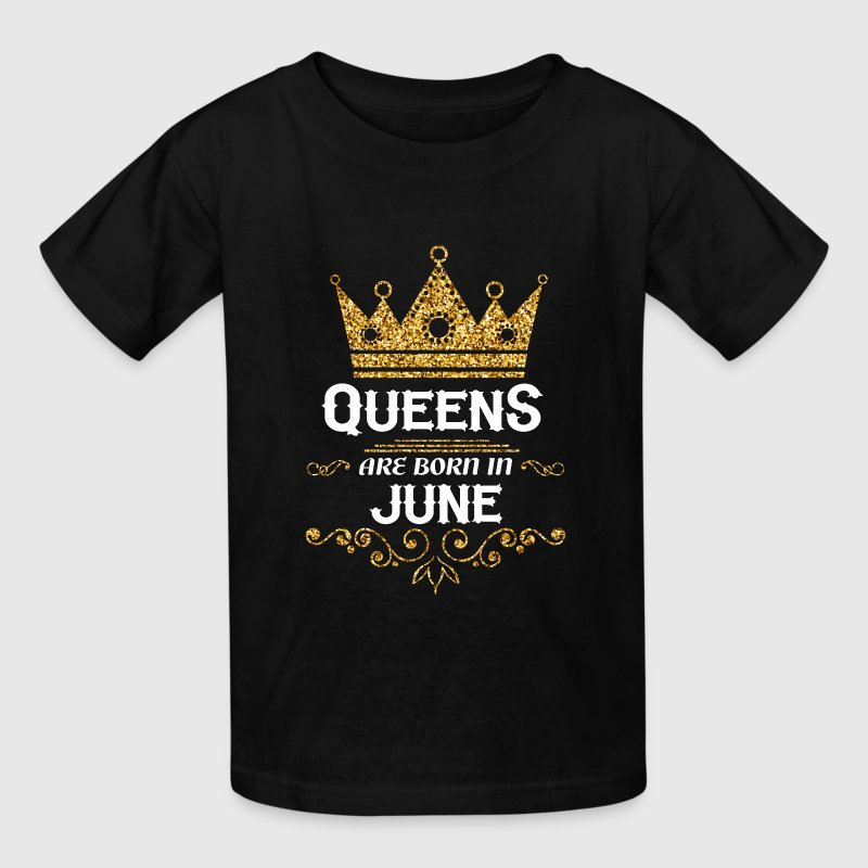 queens are born in june Kids' Shirts - Kids' T-Shirt