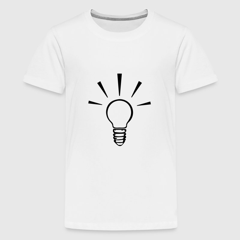 Light bulb - idea 1 color Kids' Shirts - Kids' Premium T-Shirt