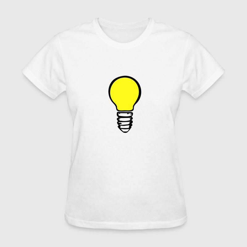 Light bulb - yellow T-Shirts - Women's T-Shirt