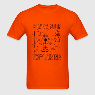 Never stop exploring (outer space) Kids' Shirts - Men's T-Shirt