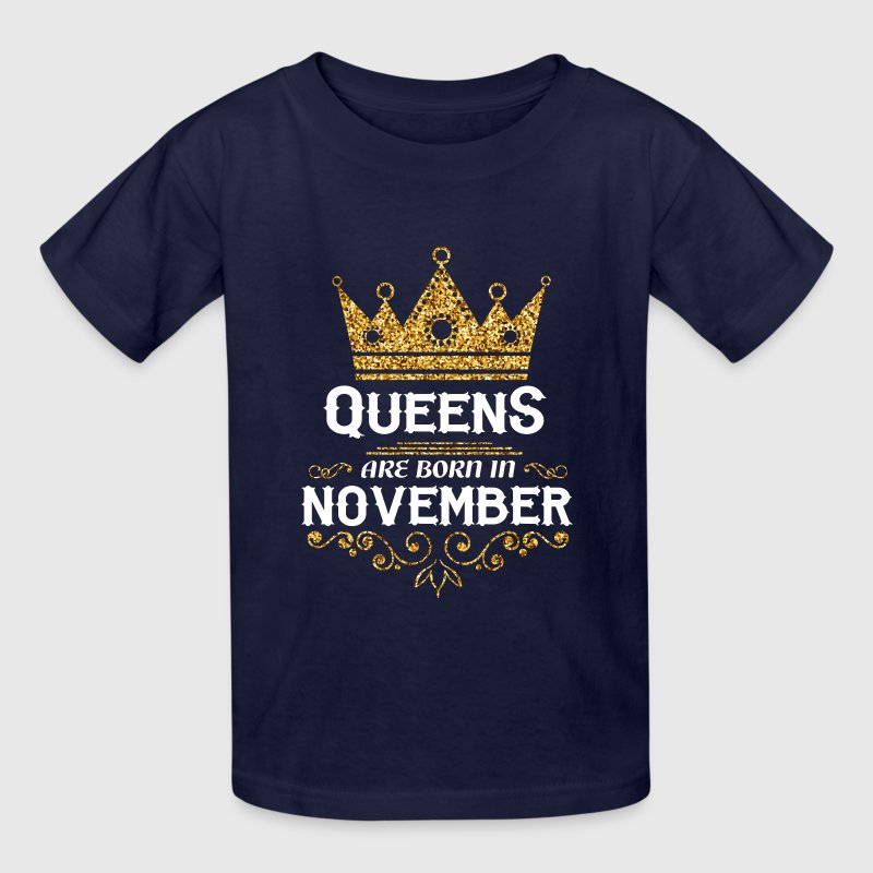 queens are born in november Kids' Shirts - Kids' T-Shirt