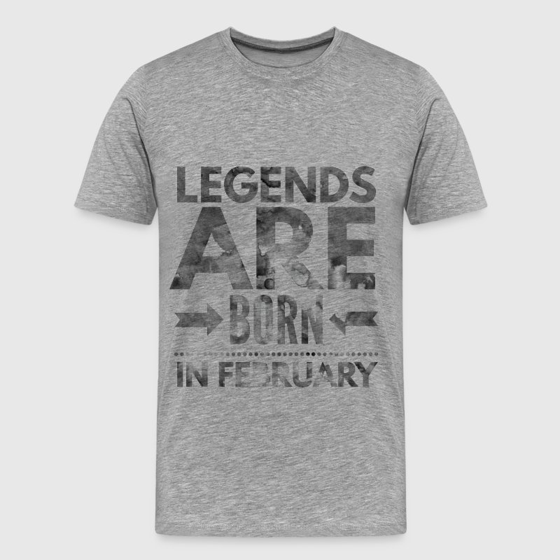 Birthday shirt design legends born in february T-Shirts - Men's Premium T-Shirt
