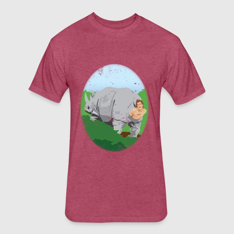 Warm In These Rhinos! - Fitted Cotton/Poly T-Shirt by Next Level