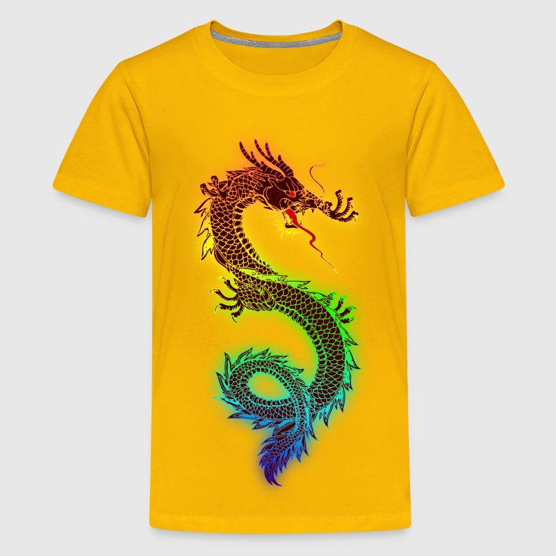 Rainbow Dragon - Kids' Premium T-Shirt