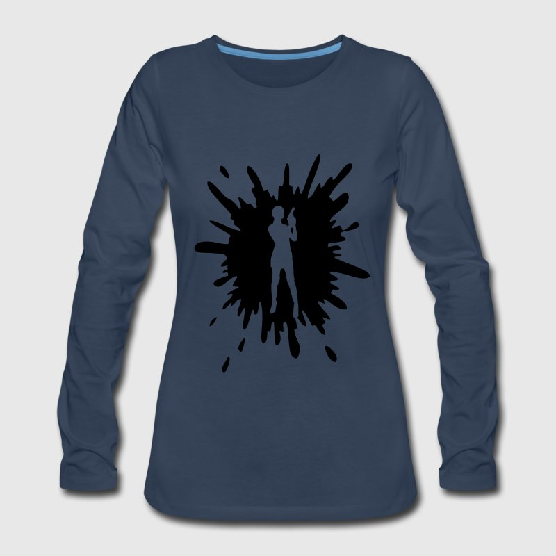 Splash Long Sleeve Shirts - Women's Premium Long Sleeve T-Shirt