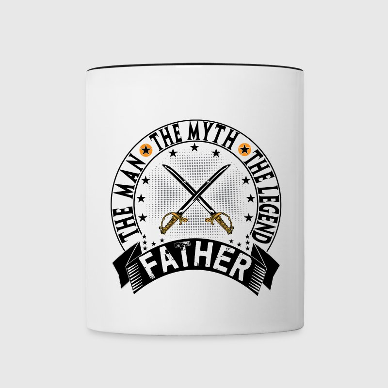 FATHER THE MAN THE MYTH THE LEGEND Mugs & Drinkware - Contrast Coffee Mug