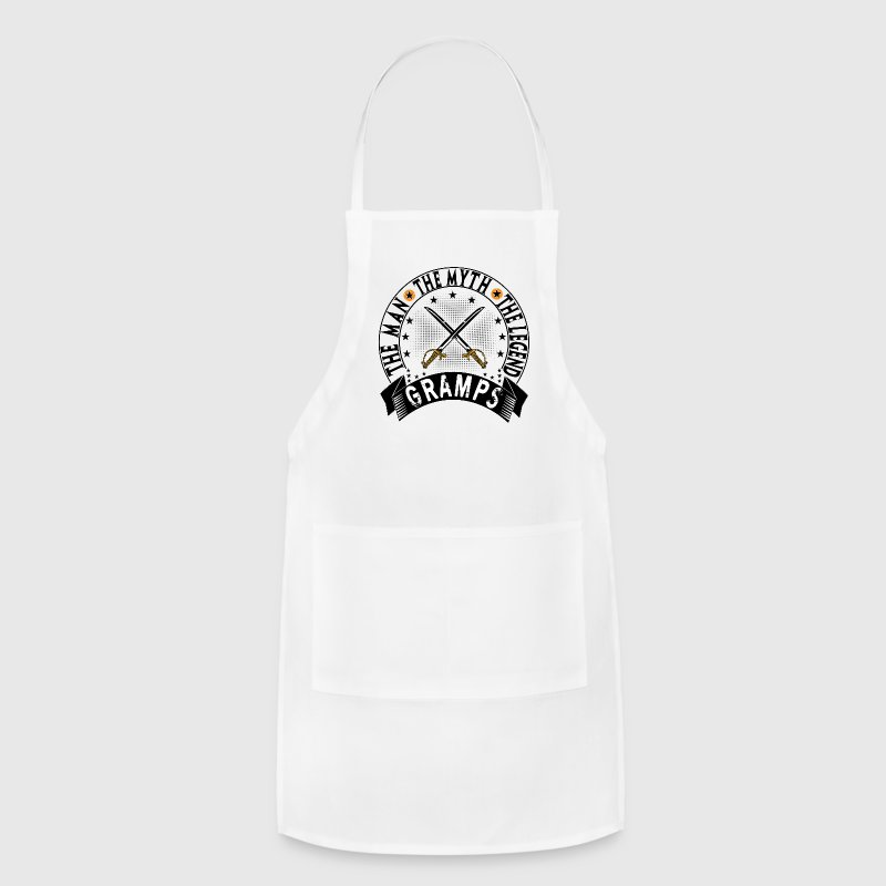 GRAMPS THE MAN THE MYTH THE LEGEND Aprons - Adjustable Apron