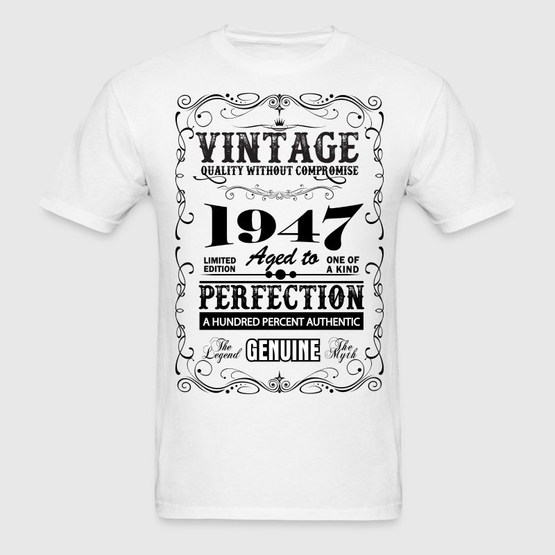 Premium Vintage 1947 Aged To Perfection T-Shirts - Men's T-Shirt