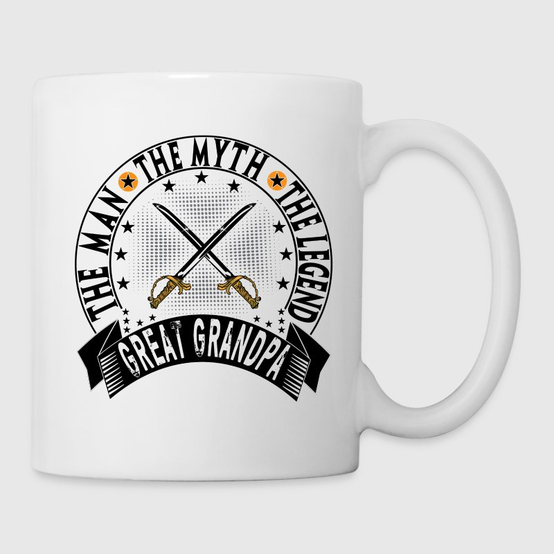 GREAT GRANDPA THE MAN THE MYTH THE LEGEND Mugs & Drinkware - Coffee/Tea Mug