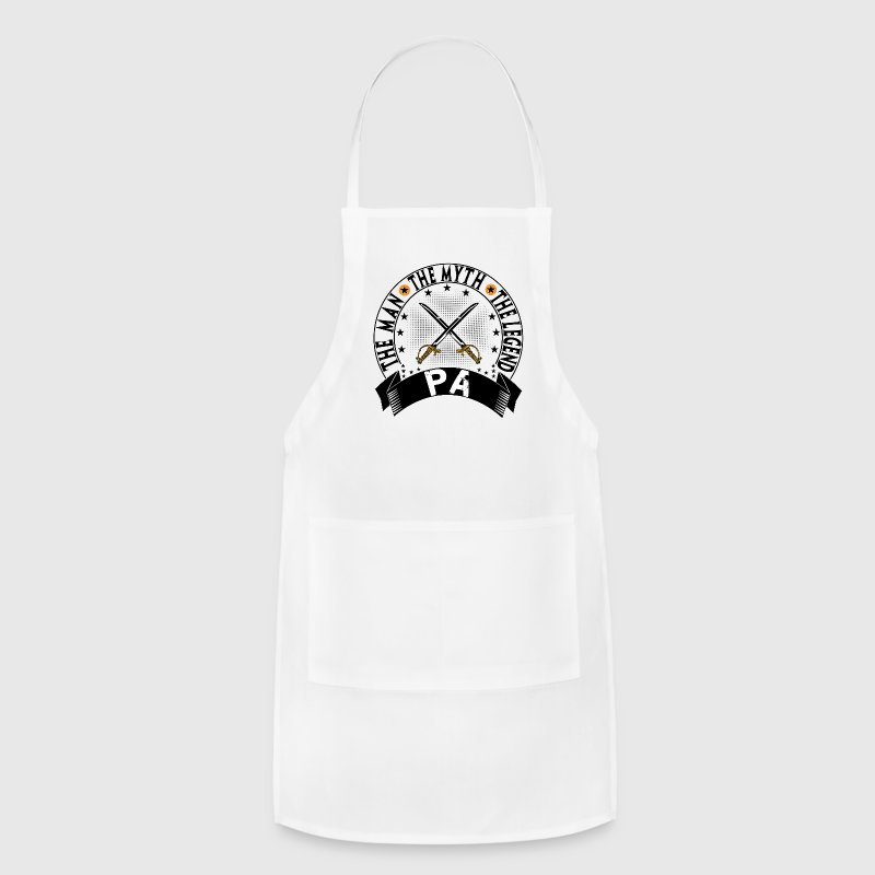 PA THE MAN THE MYTH THE LEGEND Aprons - Adjustable Apron