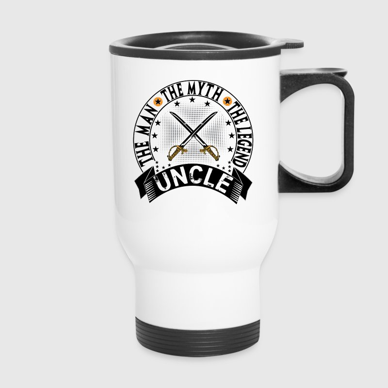 UNCLE THE MAN THE MYTH THE LEGEND Mugs & Drinkware - Travel Mug