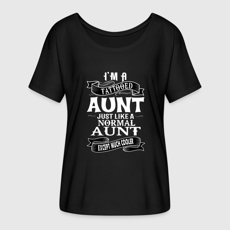 TATTOOED AUNT T-Shirts - Women's Flowy T-Shirt