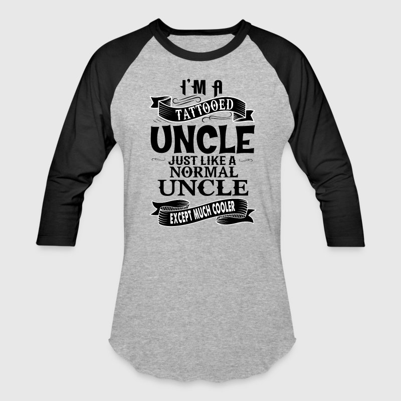 TATTOOED UNCLE T-Shirts - Baseball T-Shirt