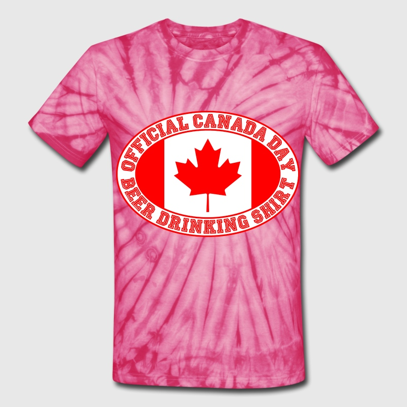 OFFICIAL CANADA DAY BEER DRINKING SHIRT - Unisex Tie Dye T-Shirt