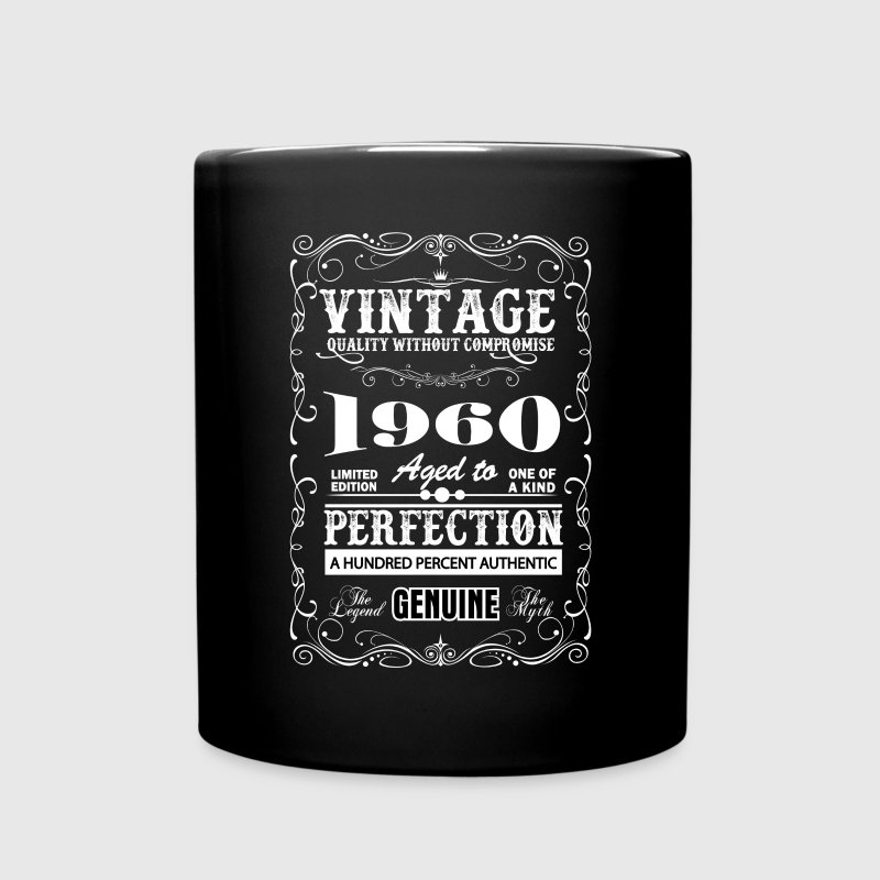 Premium Vintage 1960 Aged To Perfection Mugs & Drinkware - Full Color Mug