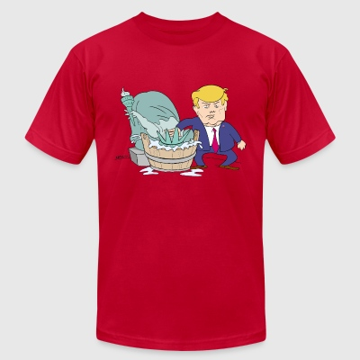 Waterboarding T-Shirts - Men's T-Shirt by American Apparel