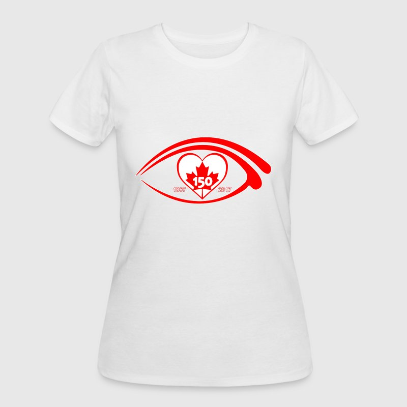 I EYE HEART LOVE CANADA 150  - Women's 50/50 T-Shirt