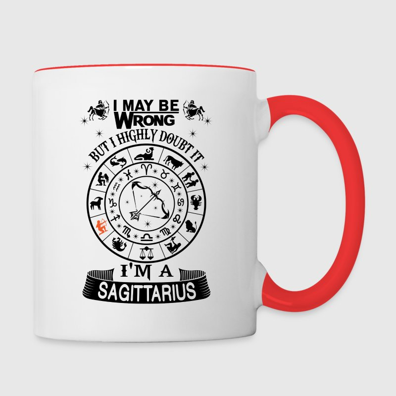 I AM A SAGITTARIUS Mugs & Drinkware - Contrast Coffee Mug