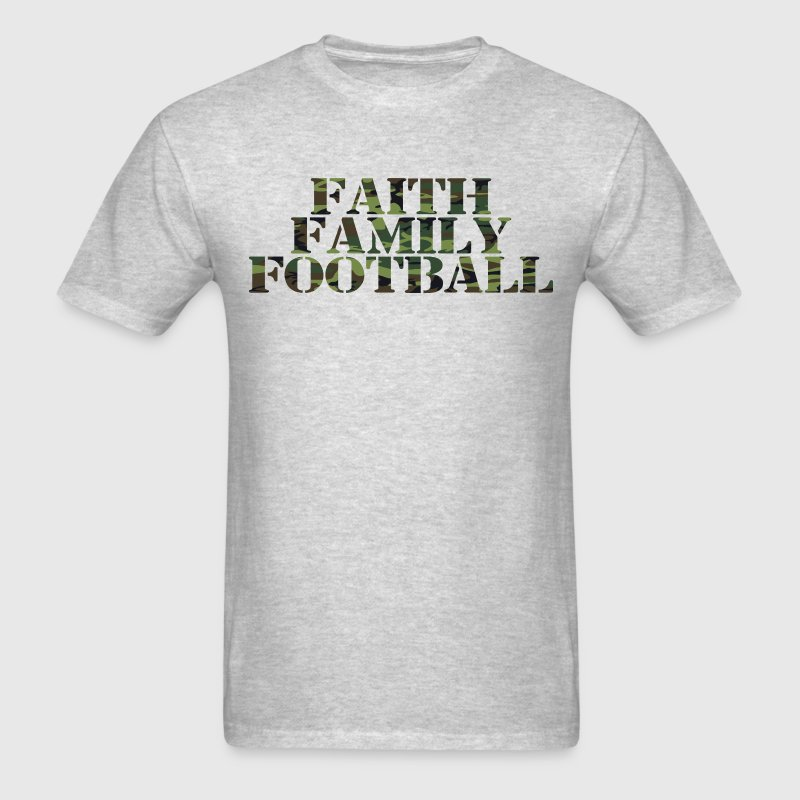 Faith Family Football shirt - Men's T-Shirt